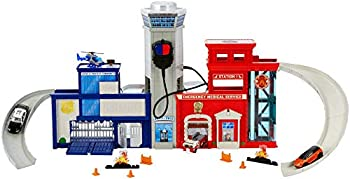 Matchbox Rescue Police and Fire DepartmentHeadquarters Deluxe Playset