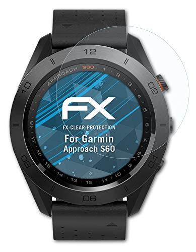 atFoliX Schutzfolie kompatibel mit Garmin Approach S60 Folie, ultraklare FX Bildschirmschutzfolie (3X)