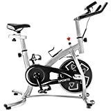 Exercise bike stationary bikes Trainer workout equipment with Comfortable Seat Cushion ,GT Stationary Professional Indoor Cycling Bike within w/LCD Monitor, Cardio workouts exercise bike (DGDCN1199)