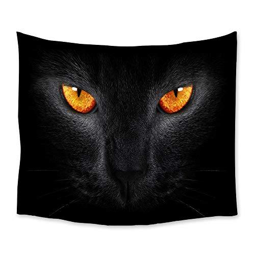 AdoDecor Tapiz de Leopardo Negro, tapices para Colgar en la Pared, Colcha, decoración artística, Manta, Toalla, Cortina de Ventana, 150x180cm