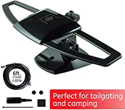 GE UltraPro Black Stealth Mobile TV Antenna, Perfect for Tailgating and Camping, Indoor, Outdoor, Attic, Long Range Antenna, Digital, HDTV Antenna, 4K 1080P VHF UHF, 6 ft Coaxial Cable, 34140