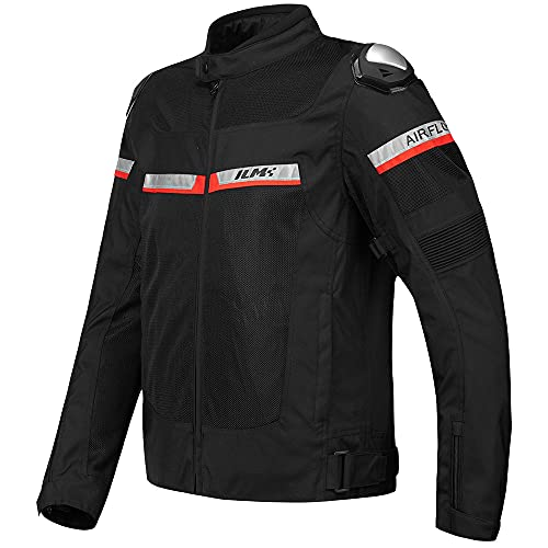 ILM Mesh Motorcycle Riding Jacket CE Armored Alloy Shoulder Pads for Men Women Breathable Dirt Bike...