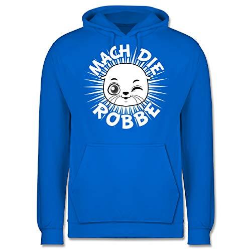 Shirtracer Sprüche - Mach die Robbe - XS - Himmelblau - mach die Robbe - JH001 - Herren Hoodie und Kapuzenpullover für Männer