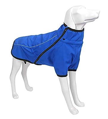 Geyecete Outdoor windproof 1/2 Leg jacket,Dog Winter Coat Outdoor sports suit Windproof clothes for pets,Pet Dog Warm Jacket Winter Clothing -Blue-M