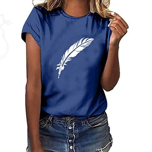 ITISME Maglietta Donna Divertenti Vintage Magliette Donna Manica Corte estive Ragazza t Shirt Stampata a Cuore Bluse Casual Camicia Sportivi Cotone Stretch Maglione Elegante Top T-Shirt Manica Lunga