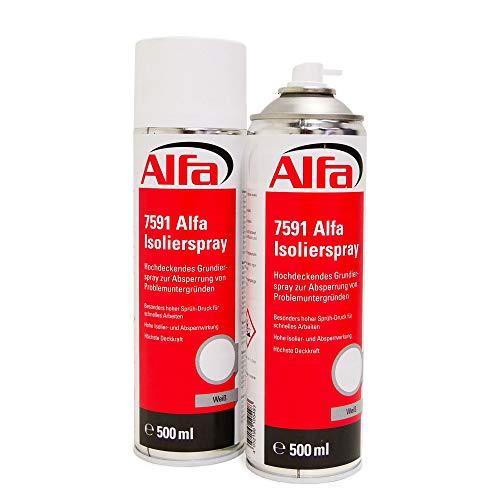 Isolierspray weiß 2 x 500 ml Hochdeckendes Grundierspray zur Absperrung von Problemuntergründen