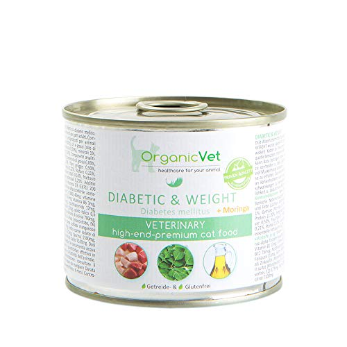 ORGANICVET Katze Nassfutter Veterinary Diabetic & Weight, 6er Pack (6 x 200 g)