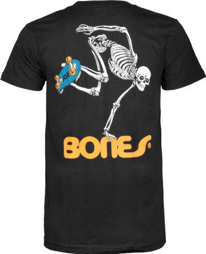 Powell-Peralta Skateboard Skeleton T-Shirt, Black, Small