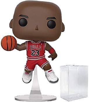 Funko NBA  Chicago Bulls Michael Jordan Pop! Vinyl Figure  Includes Compatible Pop Box Protector Case