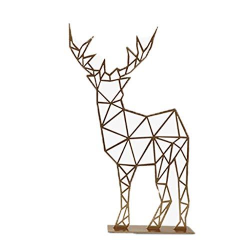 W.SunRay Créatif Géométrie Dorée Elk Décoration Nordic Fer Main Décoration Salon