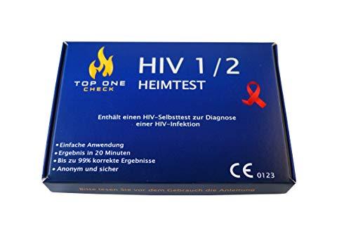 TopOneCheck HIV Test Selbsttest für Zuhause - anonymer HIV 1 und 2 Schnelltest, 1er Pack (1 Stk.)