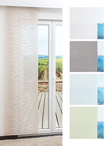 LYSEL Schiebegardine Outlet - Ministeps transparent in den Maßen 245 cm x 60 cm