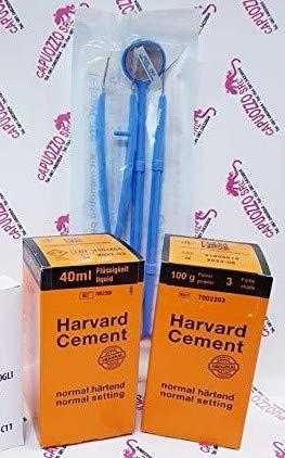 Cemento Dentale Fissaggio e sotto-otturazione Harward cement protesi definitivo ponti e corone + omaggio kit prima visita valsax