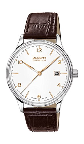 Dugena Herren-Armbanduhr Minor - Traditional Classic Analog Quarz Leder 7000247