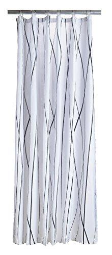 Zone Denmark 381108Polyester schwarz, weiß Duschvorhang Vorhang Dusche Bedruckt, Polyester, Schwarz, Weiß, 2m, 1800mm
