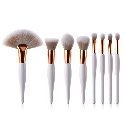 WWLZ Make-up Pinsel kit weichen synthetischen Kopf holzgriff Pinsel Fan flachpinsel Set Frauen...