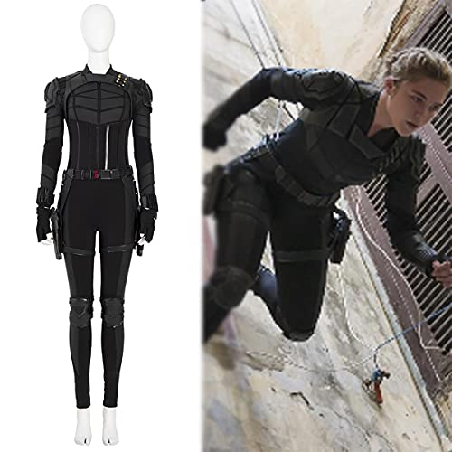 Rubyonly Yelena Belova Cosplay Jumpsuit Sister of Black Widow Body Halloween Noir Ensembles de Costumes.S