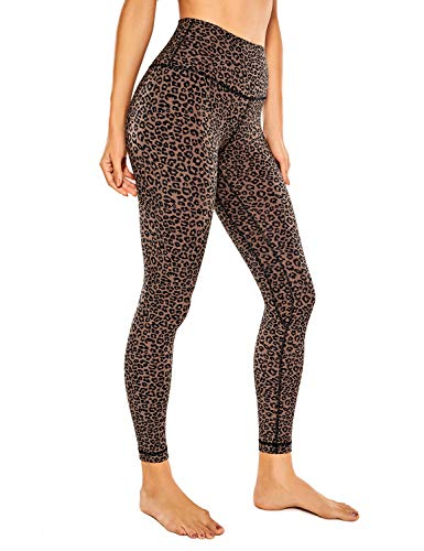 CRZ YOGA Women's Naked Feeling I 7/8 High Waisted Pants Yoga Workout Leggings - 25 Inches Leopard-Print 2 Small