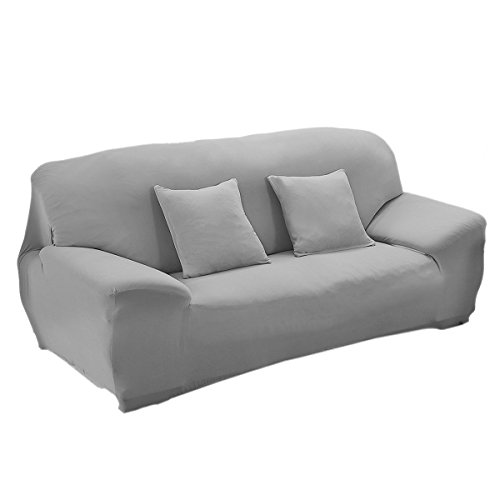 WINOMO 3 Sitzer hohe Elastizität Milbenstopp Chair Cover Abdeckung Slipcover Sofacouch