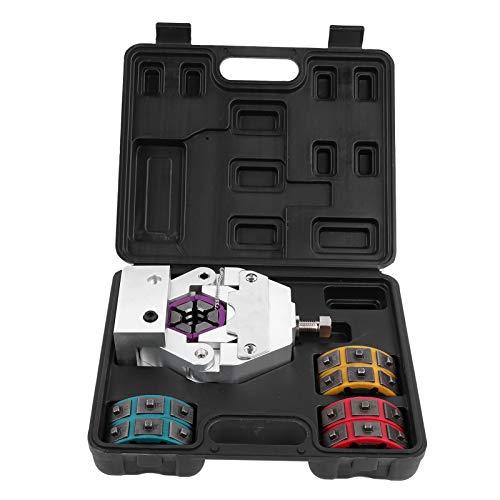 Fydun Kit de engarzadora de manguera de aire acondicionado manual Herramienta portátil para prensar mangueras de aire acondicionado con Matrices Reparación Automotriz