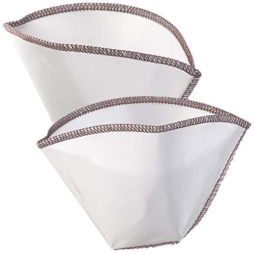 Rosenstein & Söhne Filter: 2er-Set faltbare Edelstahl-Dauerkaffeefilter, Gr. 4 für 2-4 Tassen (Kaffeefilter Dauerfilter)