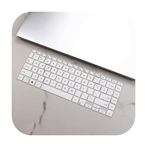 Funda de silicona para teclado Asus VivoBook S14 X421FA X421IA X421 FA IA 2020 14' X413FP X413FA X413F X413 FA FP F-blanco