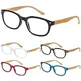 EFE Gafas de Lectura 5 Unidades Anti Luz Azul Gafas para Leer Bisagra de Resorte Ligeras Comodas de Modas Vista de Cerca Hombre y Mujer (+2.0)