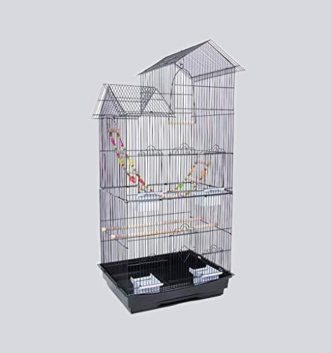 FTFDTMY Gabbie per Uccelli in Stile casa, scatole per Allevamento di Uccelli, Gabbie per Uccelli per canarini, parrocchetti di monaci, piccioni (Colore: B, Dimensioni: 46 * 36 * 100 cm)