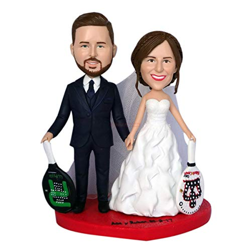Custom made bobbleheads from photo wedding cake toppers silhouette figurines 3d figurine maker sculpture custom clay figurines