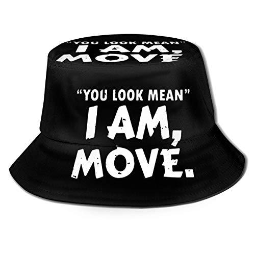 XCNGG Sie sehen gemein aus Frauen Männer Unisex Sonnenhut Einfarbiger Hut Fischerhut Sonneneimer Hut Mode Wild Beach Hut Kappe Schwarz