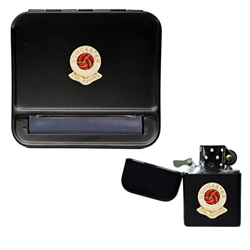 Doncaster Rovers Football Club Cigarette Rolling Machine and storproof Petrol Lighter
