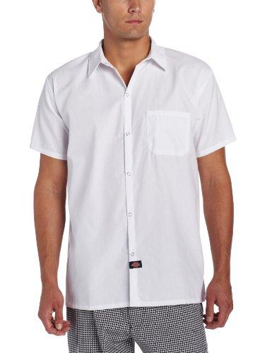 Photo of Dickies Men's Snap Button Cook Shirt – White – XXXL