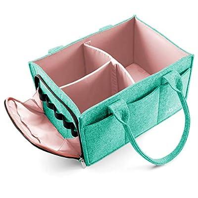 Mollieollie Premium Baby Diaper Caddy Organizer...