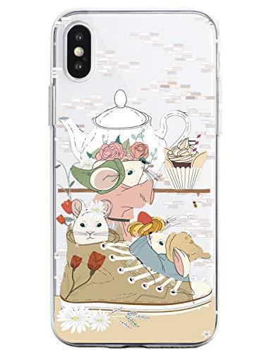 Oihxse Funda Dibujos Animal Lindo Compatible iPhone 6/iPhone 6S 4.7'' Carcasa Transparente Clear Silicona TPU Gel Suave Case Ultra Slim Anti-Golpes Anti-Arañazos Protection Cover(Ratón)