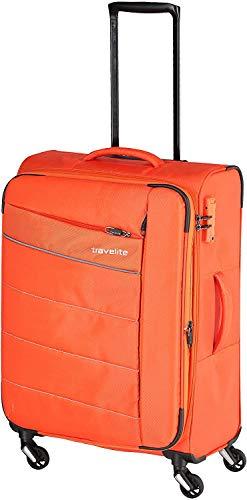 """Travelite Extrem leicht: """"KITE"""" – sportlich-klassische Trolleys, Trolley-Reisetaschen und Bordtaschen Koffer, 64 cm, 67L, Orange"""