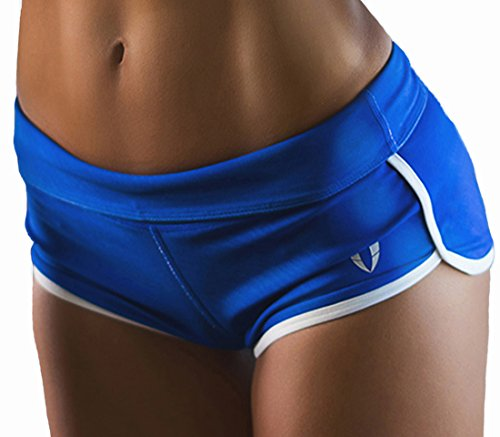 FIRM ABS Women's Enthuse Volleyball Shorts Blue/White XS