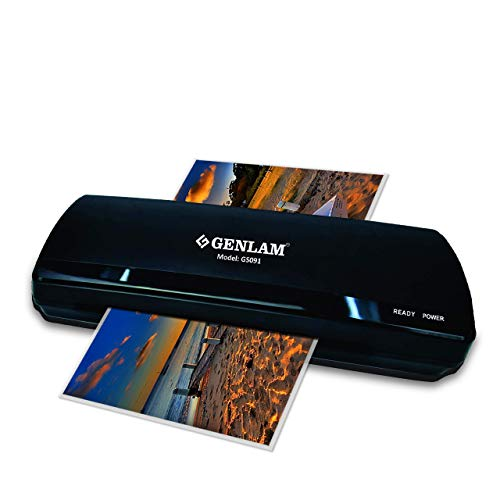 Genlam Original A3 A4 Laminator 091 with Jam Release, Supports Thermal Hot & Cold Lamination for Laminating Upto 125 Microns