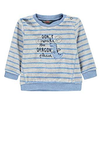 Kanz Baby-Jungen 1/1 Arm Sweatshirt, Mehrfarbig (Y/D Stripe|Multicolored 0001), (Herstellergröße: 62)
