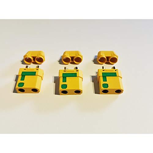MR-Onlinehandel ® 3 Stück XT90-S Buchsen Goldkontakt Anti-Spark