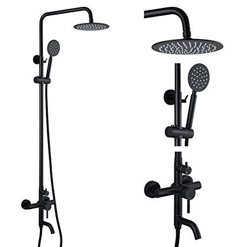 gotonovo Shower faucet Set Matte Black Triple Function with Adjustable...