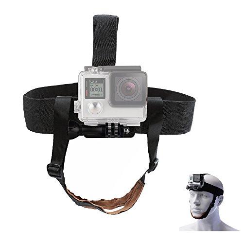 TEKCAM Verstellbarer Kopfgurt Mount Kinngürtel kompatibel mit Gopro Hero 8 7 6 Akaso EK7000 Apeman Crosstour Campark 4K wasserdichte Action Kamera Skifahren Surfen Radfahren