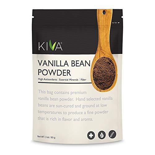 Kiva Premium Vanilla Bean Powder, Gourmet Madagascar Bourbon | RAW, Vegan, All Natural | 3 oz.