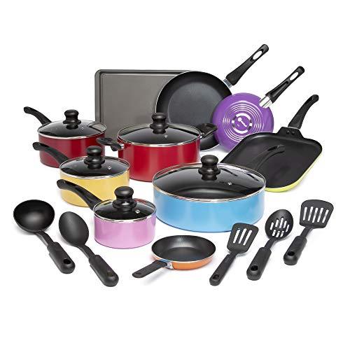 Ecolution Easy Clean Non-Stick Cookware, Dishwasher Safe Pots and Pans Set, 20 Piece,...