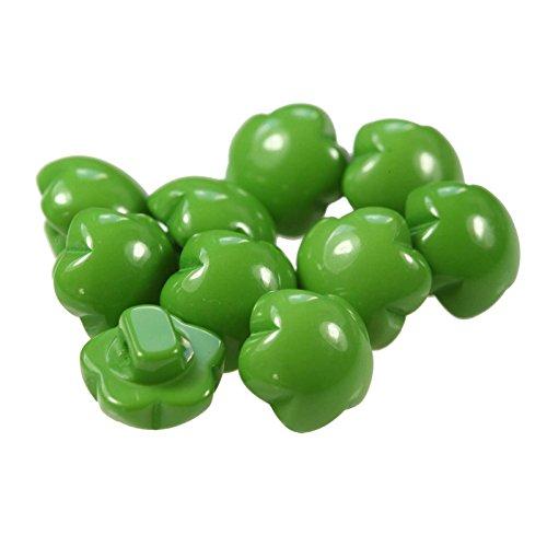Preisvergleich Produktbild maDDma ® 10 x Kinderknopf Blume Motivknopf 1-Loch,  11mm,  freie Farbwahl,  Farbe:grün