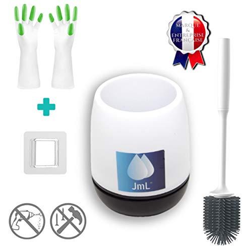JaMoonLBV JmL® Marque Française - Brosse de Toilette WC - Kit Support de Toilette Hygiénique +...