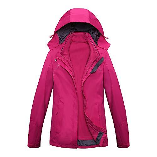 EYKELZGG Outdoor-DREI-in-one-Jacke for Damen, Warm Mountaineering Skijacke (Color : C, Size : XXXL)