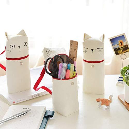 ペンケース ペンスタンド 筆箱ペン立て おしゃれ 多機能文具ケース 学生用 文具バッグ 可愛いネコ 成人祝い 新学期 ペンケース メッシュペンポーチ 筆箱 ビニール かわいい