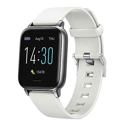 Smart Watch S50, Rastreador De Fitness, Presión Arterial, Monitor De Ritmo Cardíaco, Recordatorio De Agua De Bebida, Prueba De Sueño, Reloj De Fitness Impermeable Ip68 Reloj Blue(Color:gris claro)