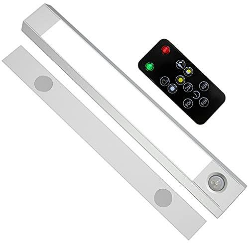 Nihlsen Control remoto noche luz gabinete armario lámpara movimiento inalámbrico sensor LED luz cuerpo humano inducción lámpara