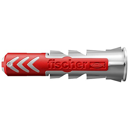 fischer 555006 DUOPOWER 6 x 30 - Universaldübel zum Befestigen von Hängeschränken, Wandregalen in Beton, Mauerwerk und Plattenbaustoffen uvm, 100 Stück